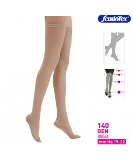 Κάλτσα ριζομηρίου με σιλικόνη 140DEN unisex 19-22mmHg